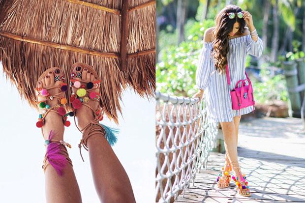 Moda Estate 2017: I sandali a basso costo con pom-pom