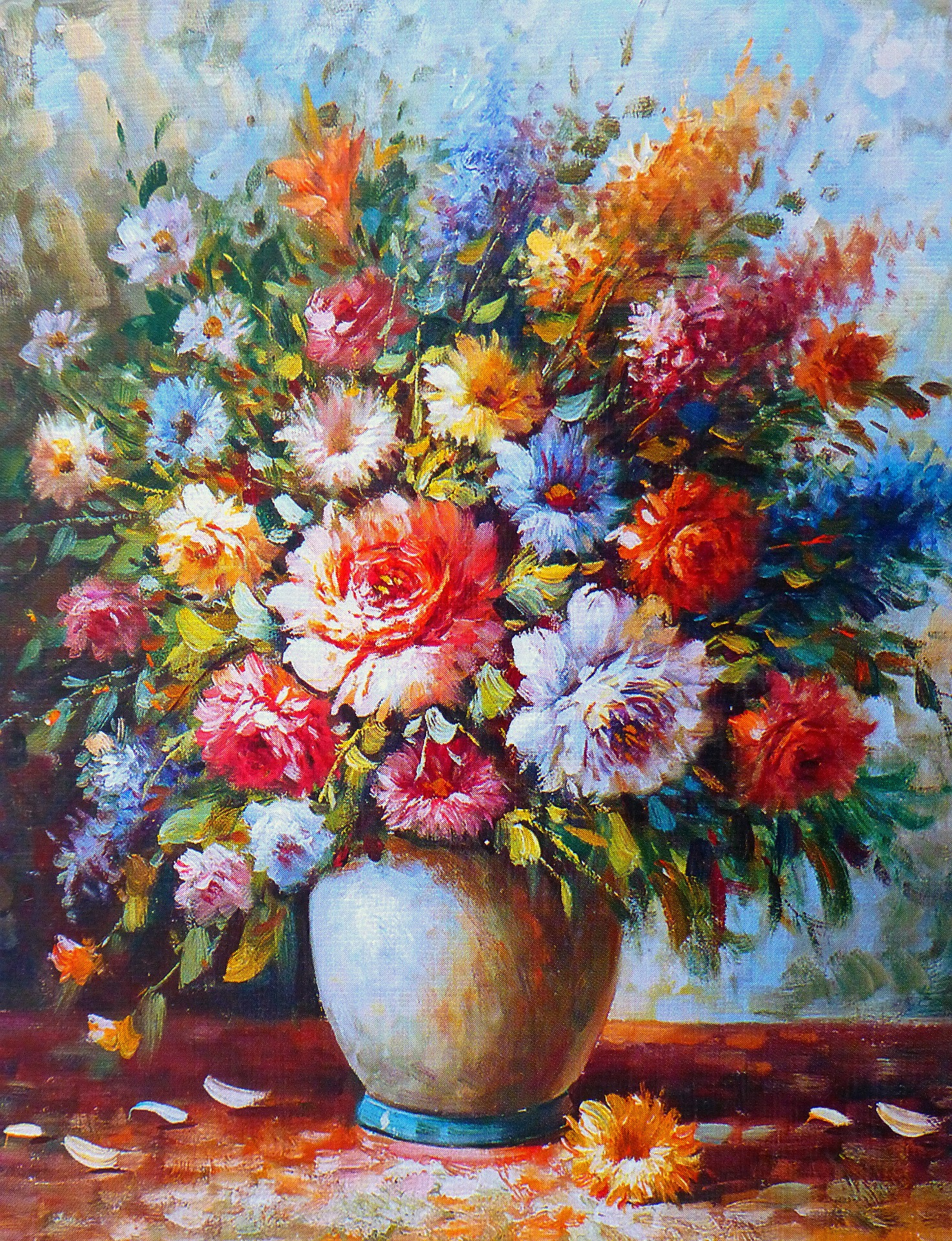 Quadri moderni su tela dipinti a mano con fiori: dove ...