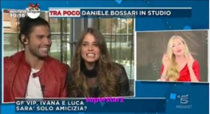 Bacio tra Luca e Ivana