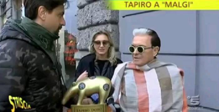 Gf Vip: drone lancia tapiro in casa