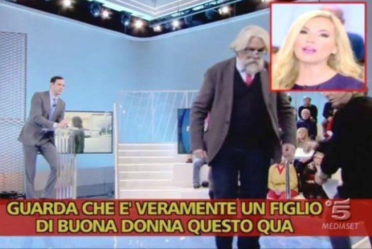 Federica Panicucci insulta Francesco Vecchi fuorionda