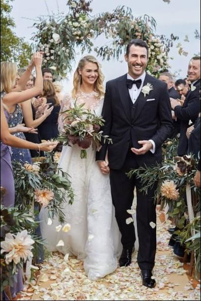 Il matrimonio di Kate Upton lo scorso anno.