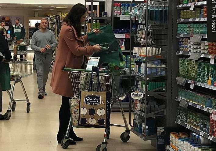 Kate Middleton al supermercato