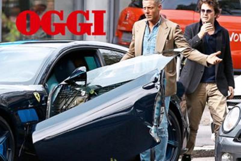 Lapo Elkann distrugge la Ferrari
