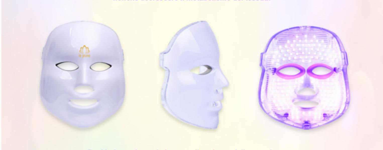 maschera led fotobiostimolazione