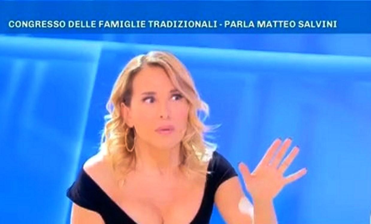 Barbara D'Urso contro Matteo Salvini