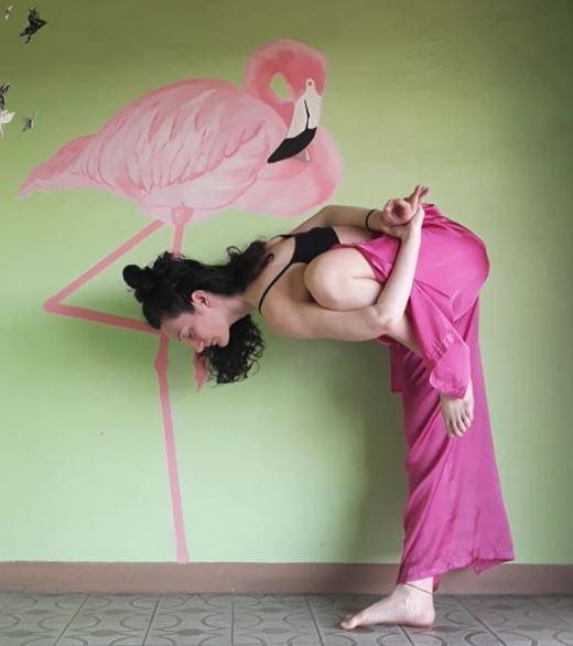 flamingo pose