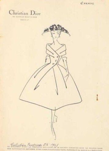 Christian Dior sketck