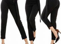 pantaloni vita alta eleganti