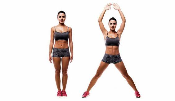 Esercizi cardio da fare a casa jumping jacks