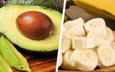 Avocado e banana capelli secchi