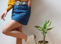 come indossare gona di jeans