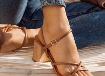 Estate 2020: sandali con tacco basso