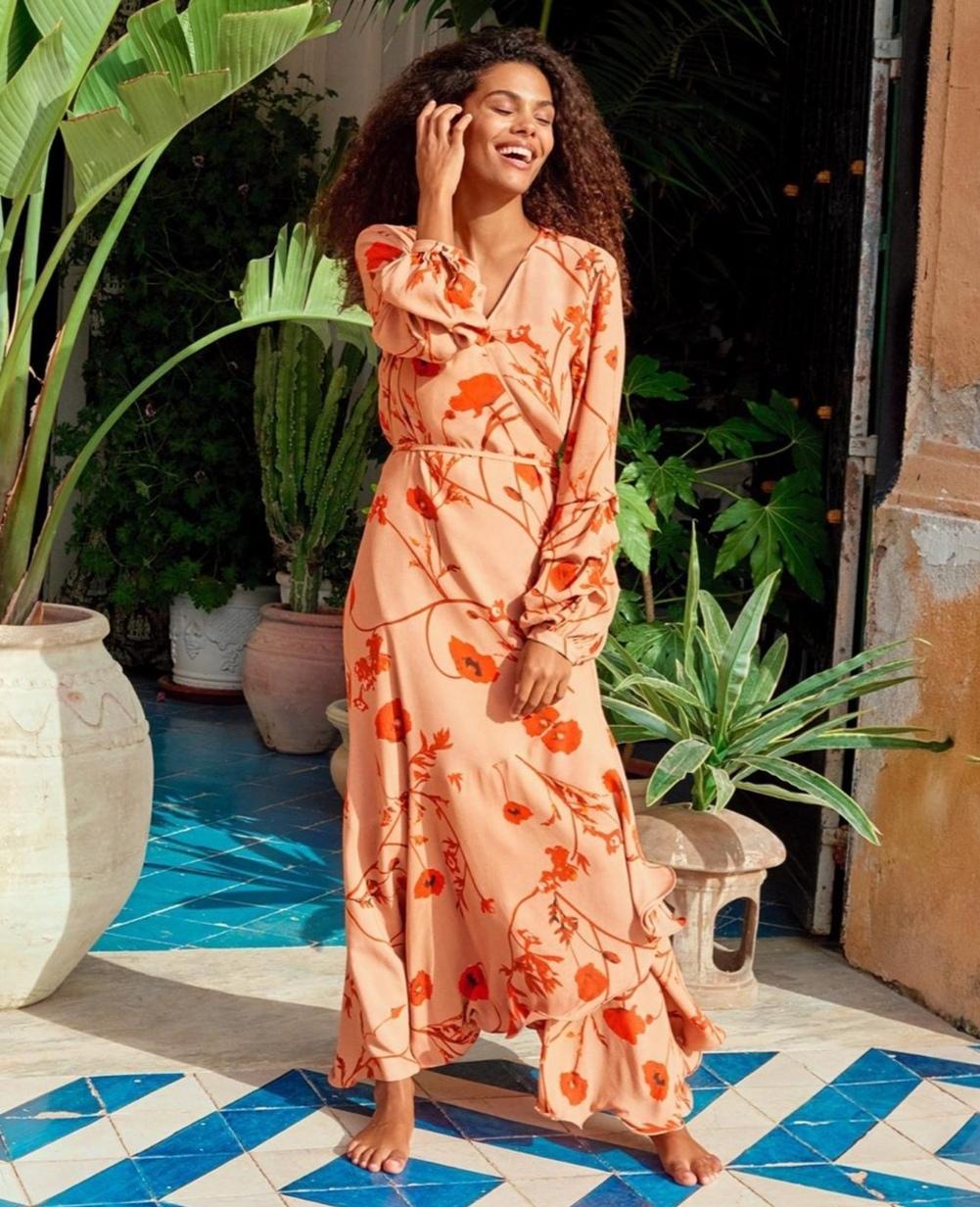 Vestiti floreali 2020: modello HM