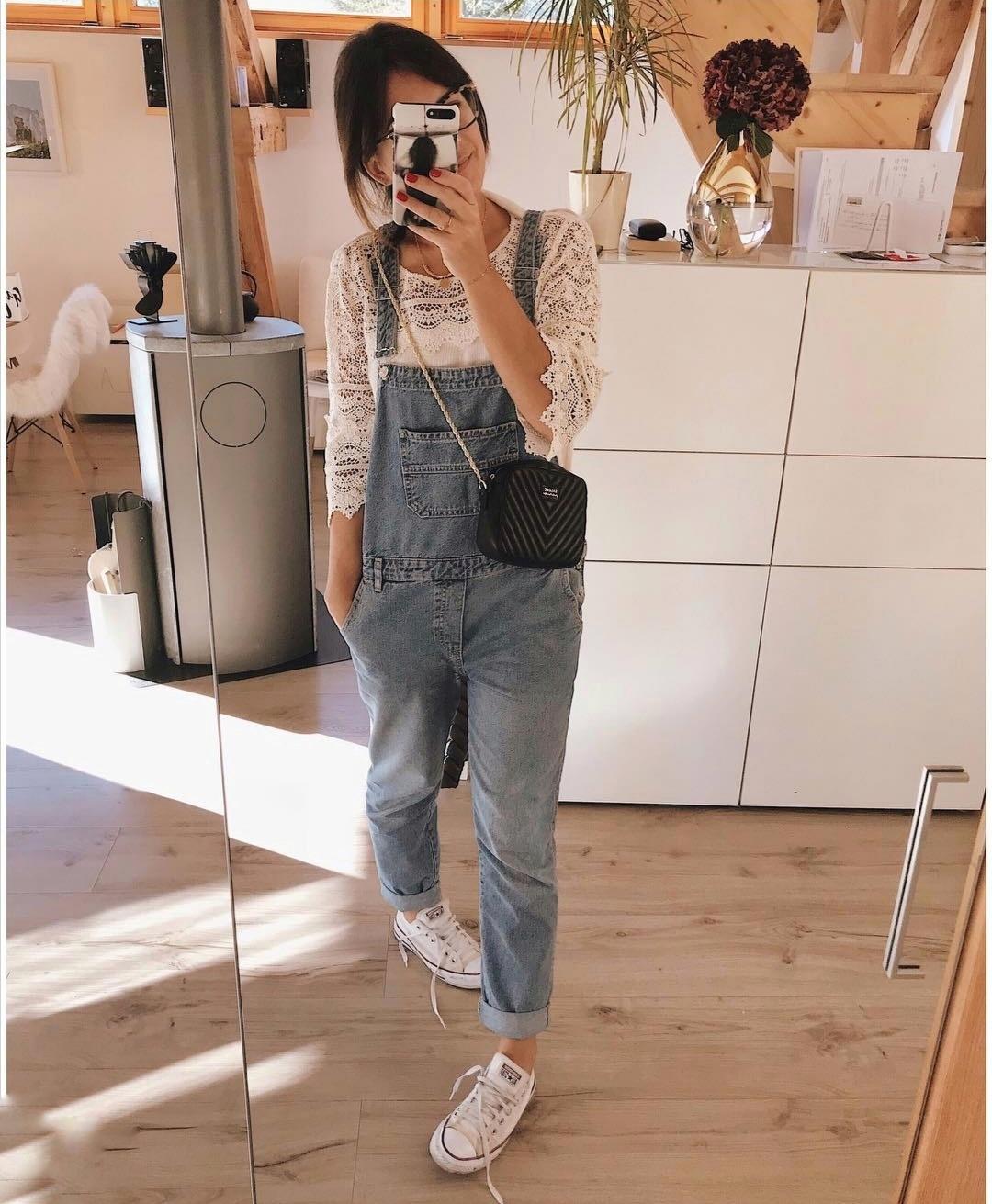 Salopette jeans Mango