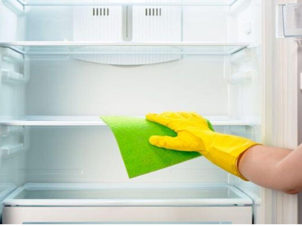 frigorifero pulito ed igienizzato