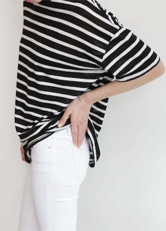 jeans bianco t-shirt marinara