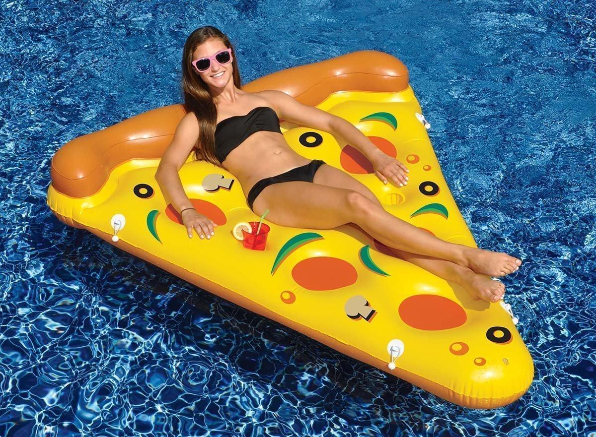 materassino gonfiabile mare pizza