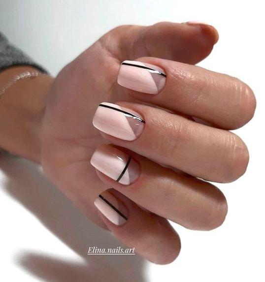 unghie estive semplici righe