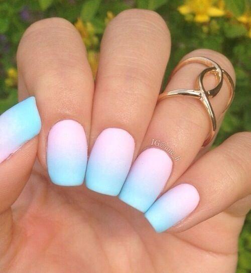 unghie estive semplici sfumato