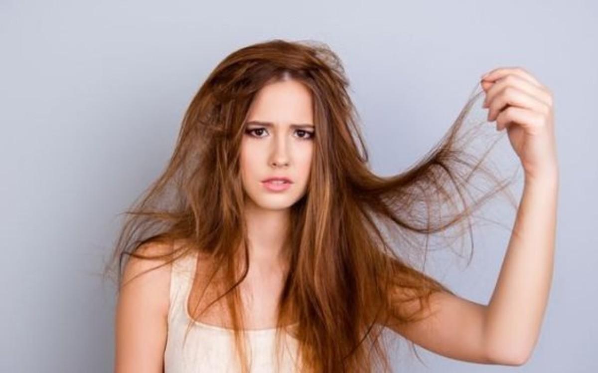 capelli rovinati in autunno