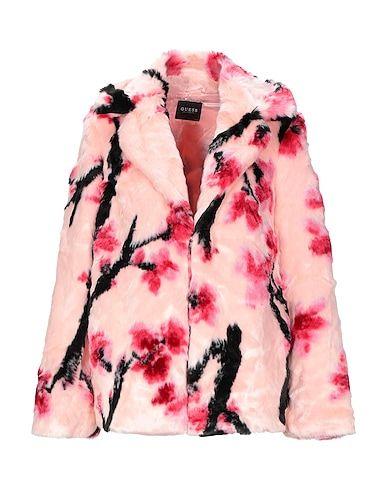 pelliccia ecologica guess rosa