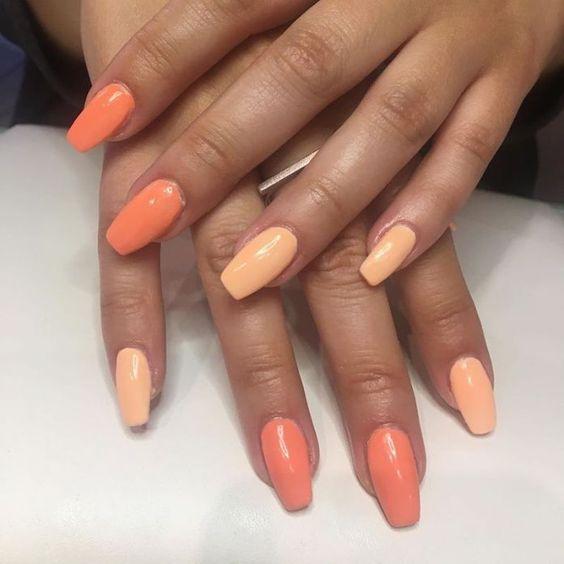 unghie peach panna