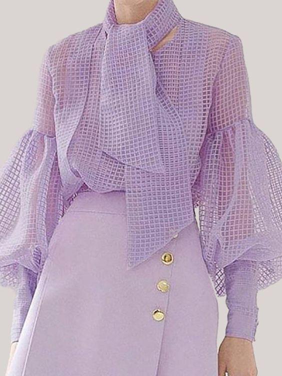 blusa maniche a palloncino autunno inverno 2020-21