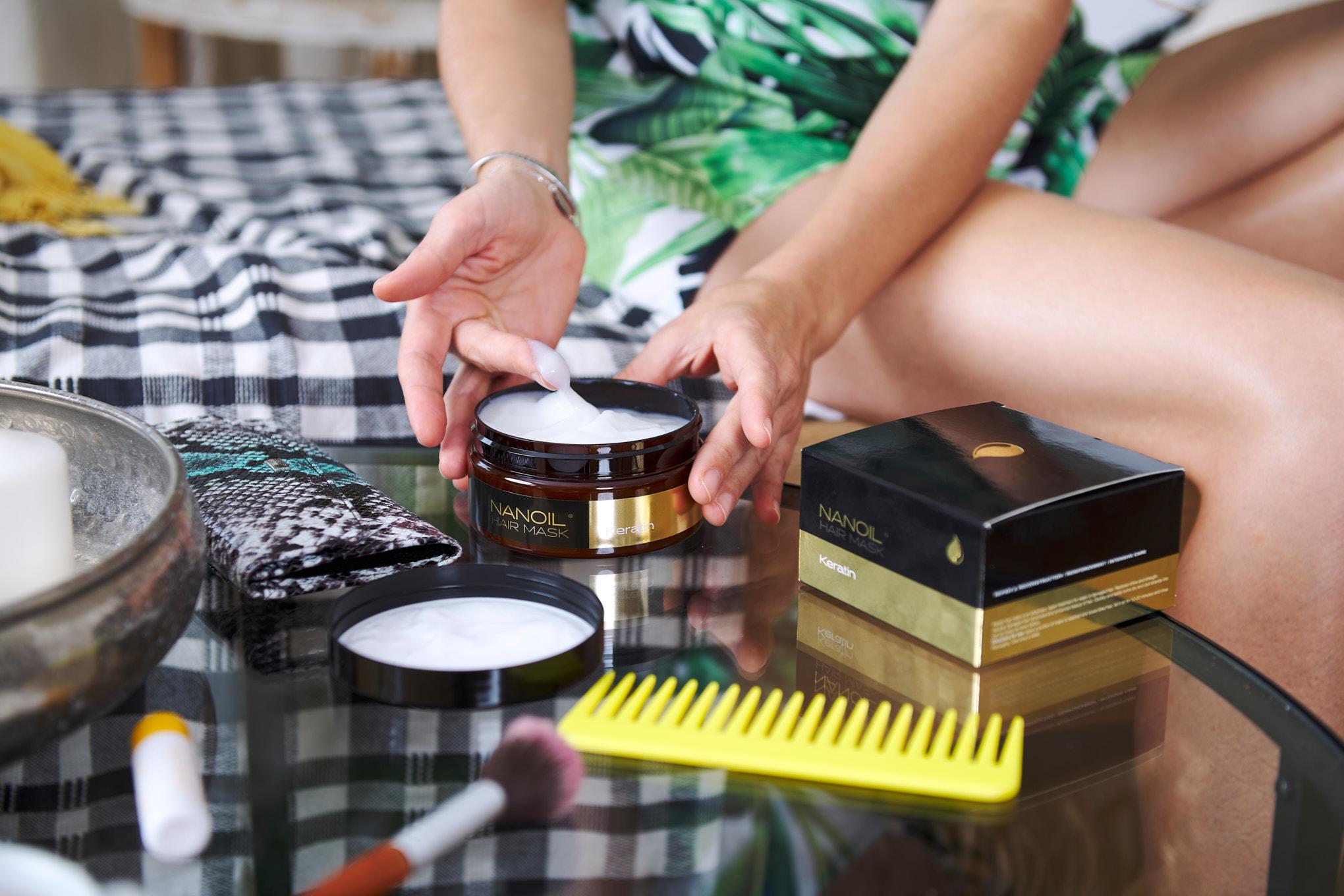 Machera per capelli alla cheratina di Nanoil: i benefici