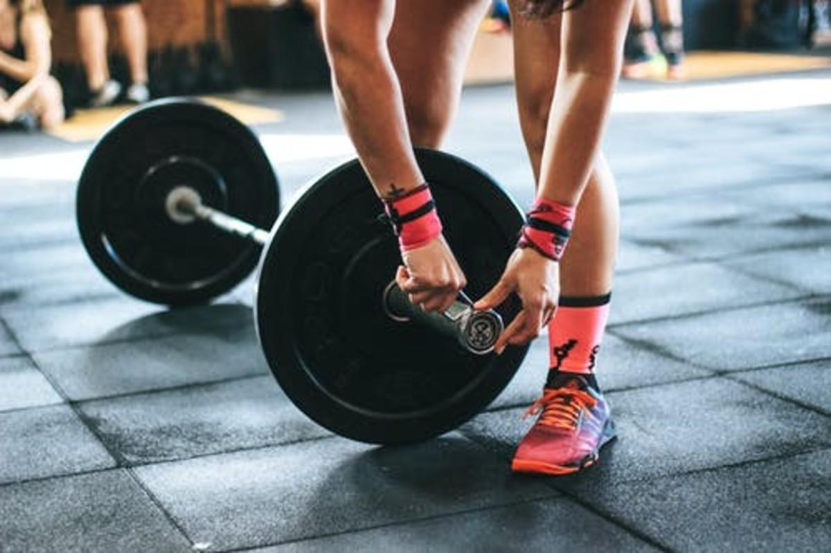 bilanciere con pesi (