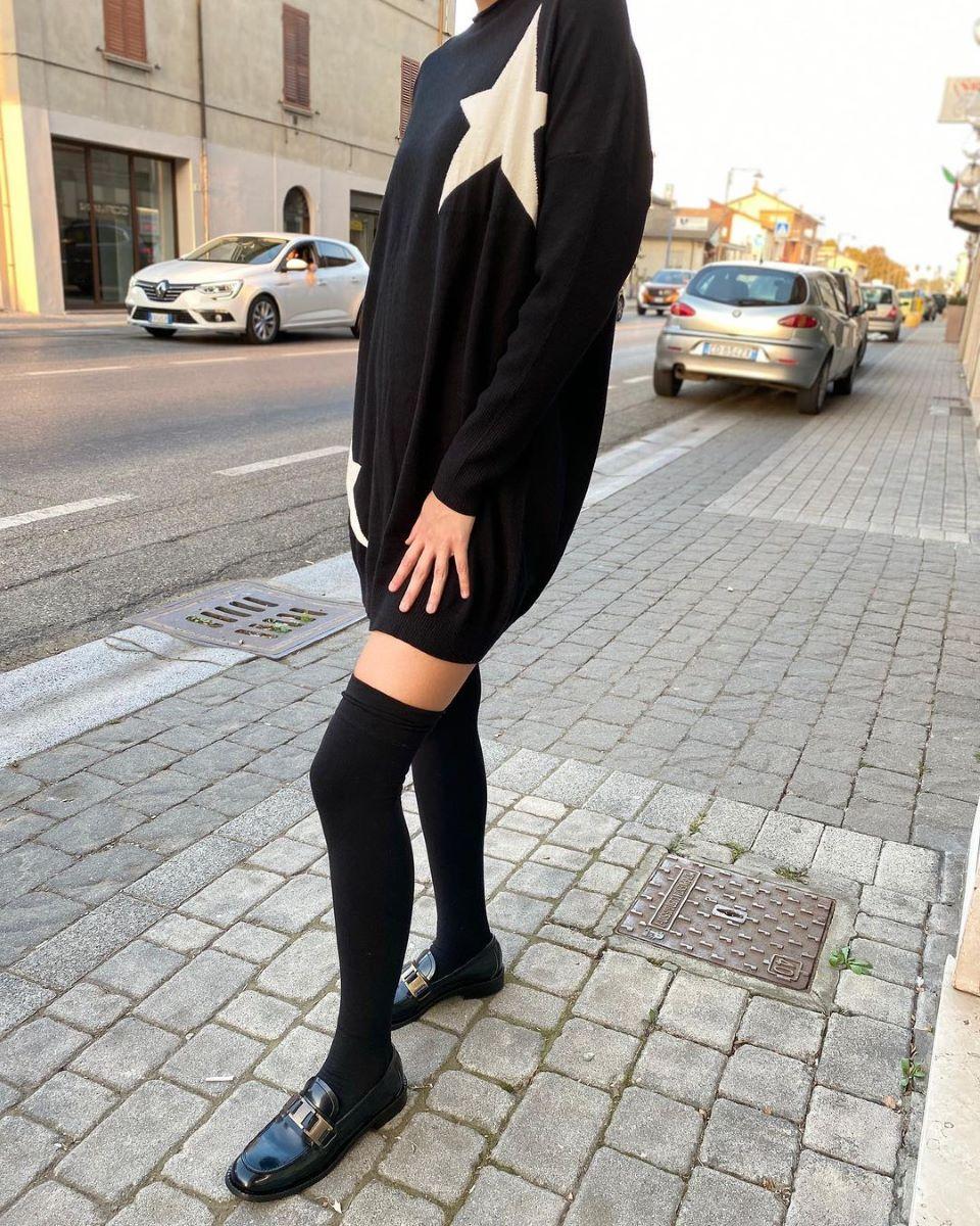 abito in maglia come indossarlo