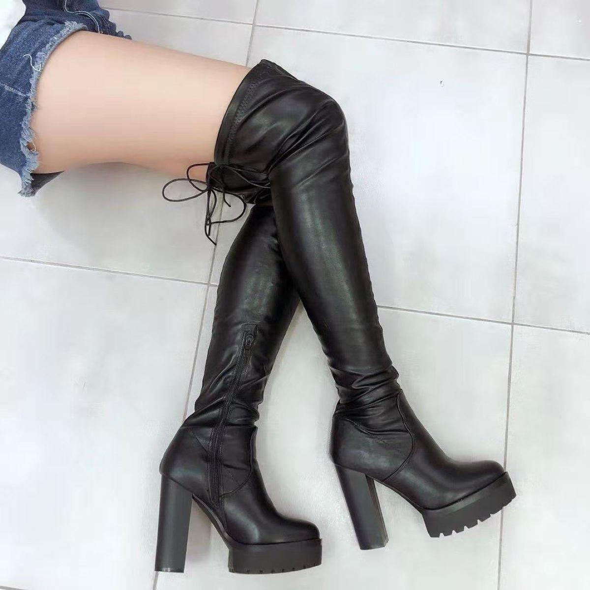come abbinare gli stivali alti sopra il ginocchio
