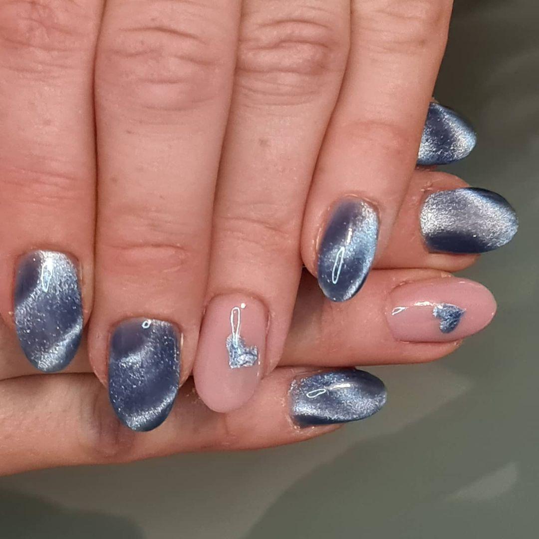 unghie metallizzate san valentino