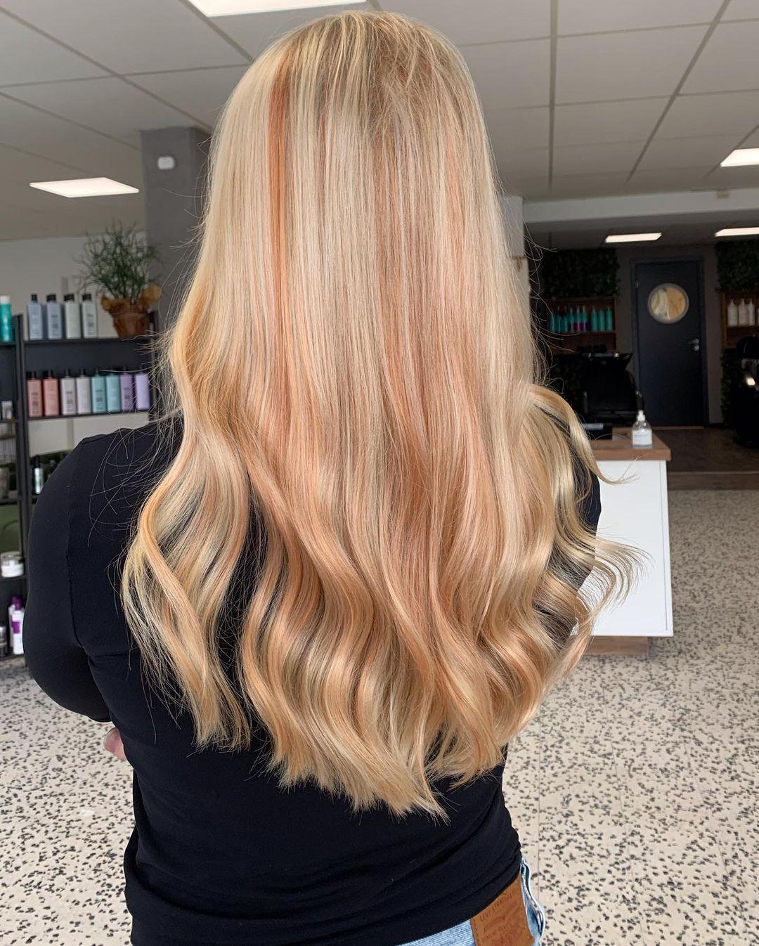 ciocche apricot hair