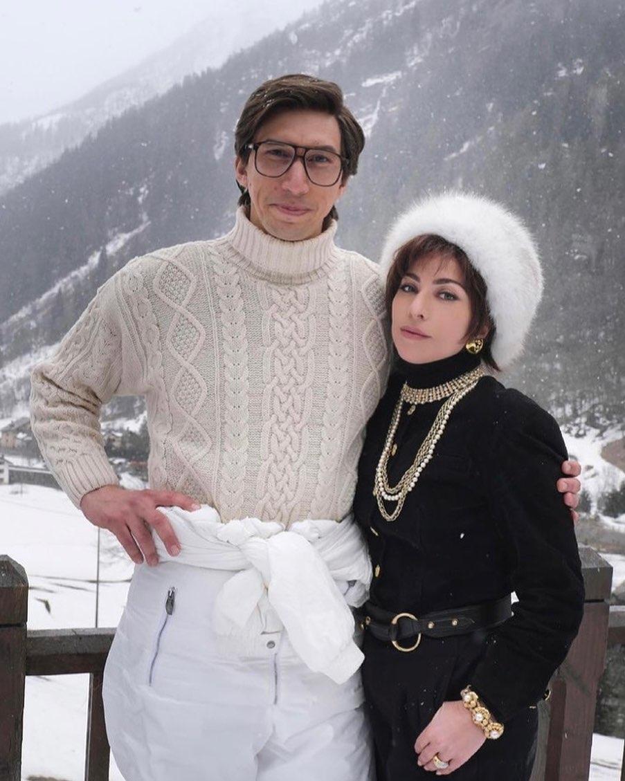 lady gaga look montagna