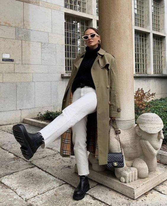 come indossare i jeans bianchi in primavera