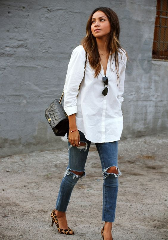 camicia bianca o di jeans come indossarla