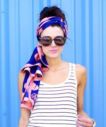 come indossare foulard e bandana sui capelli