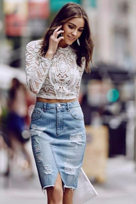 gonna di jeans anni 90 tendenza