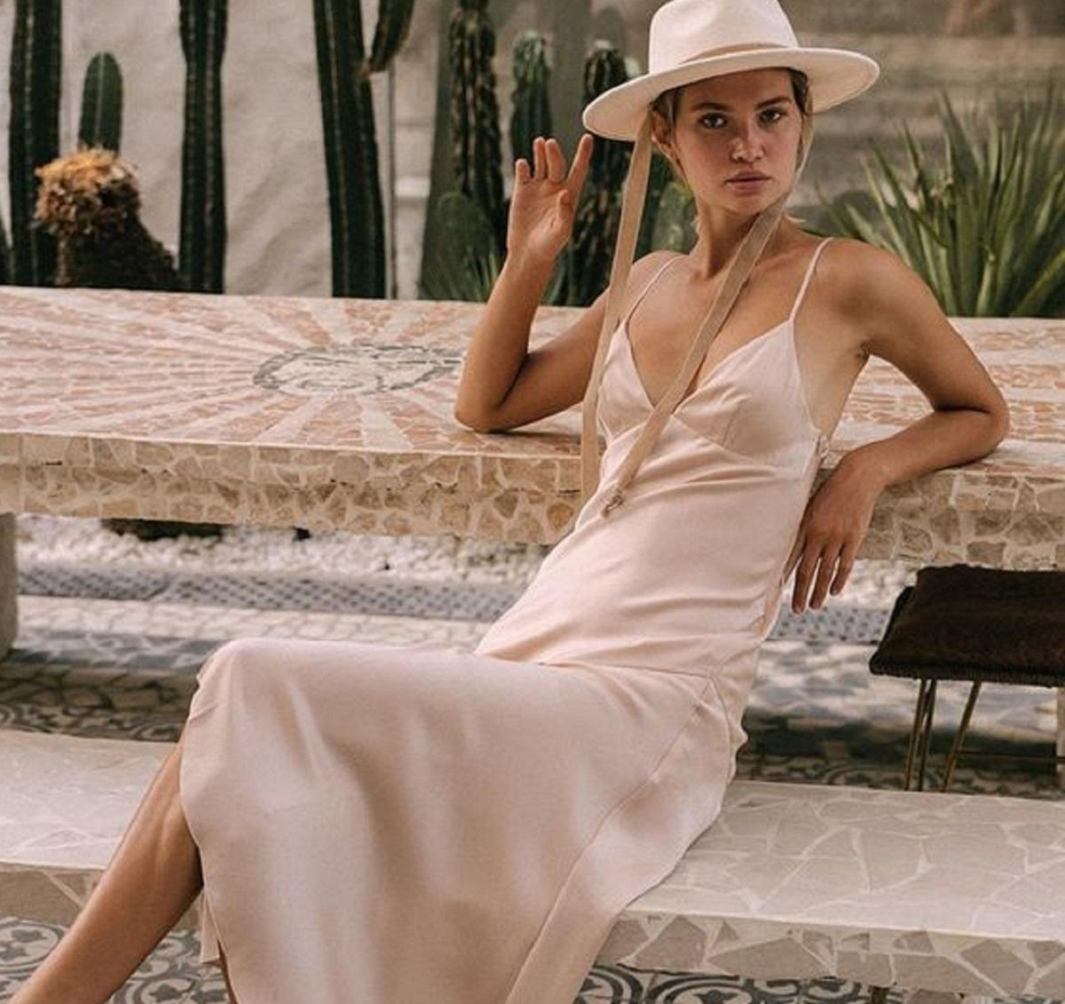 come indossare lo slip dress