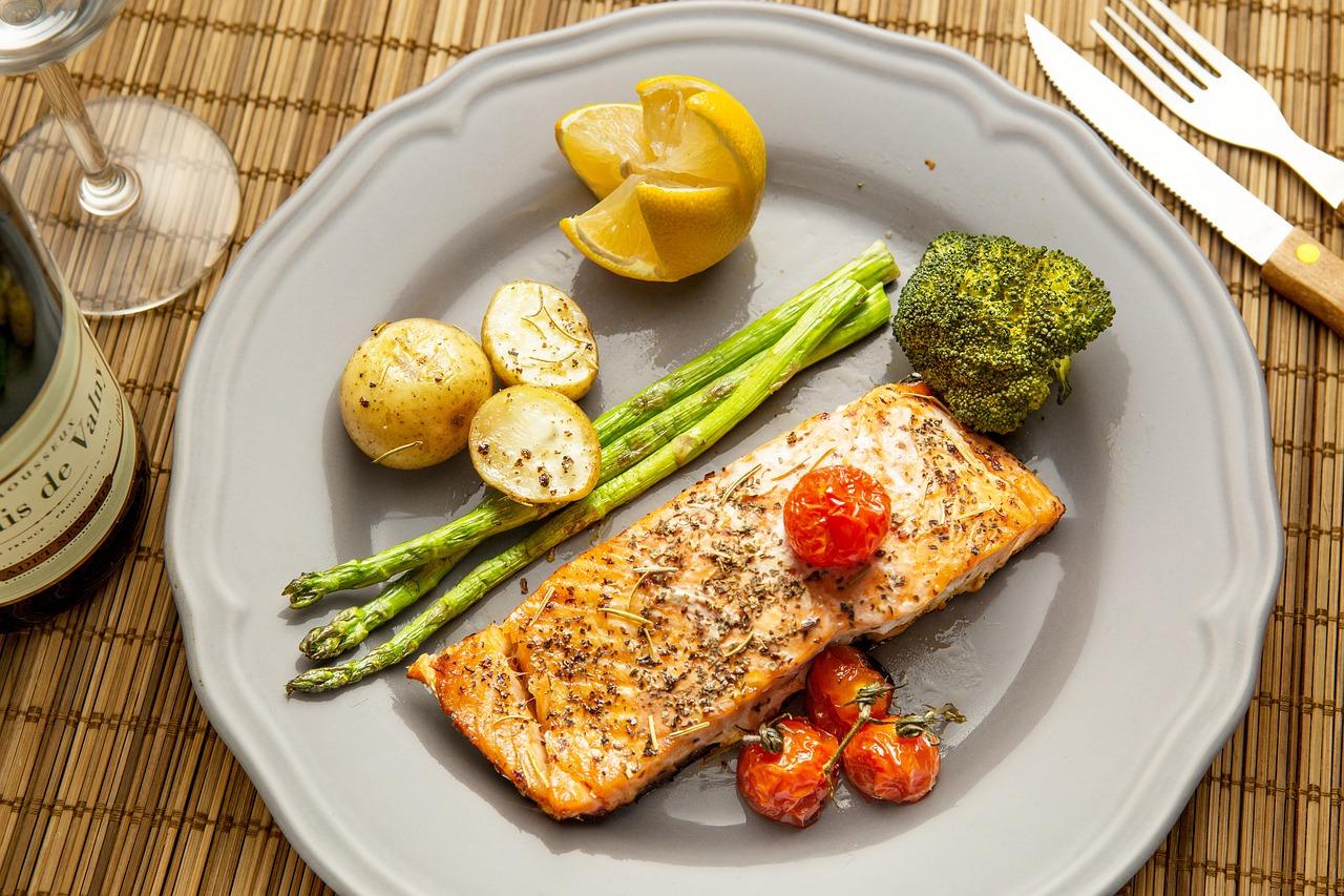 pesce verdure