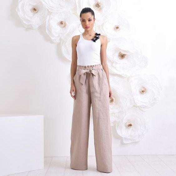 come abbinare pantaloni di lino